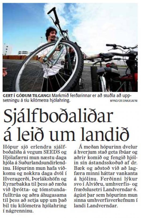 Fréttablaðið - Sjálfboðaliðar á leið um landið