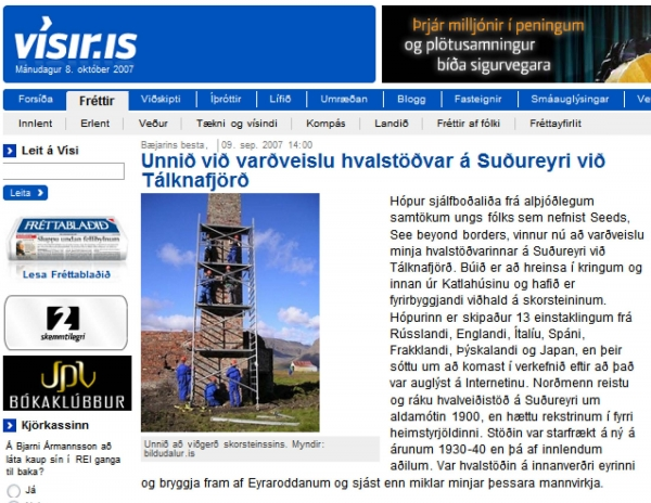 Vísir.is - Unnið við varðveislu hvalstöðvar á Suðureyri...
