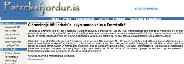 patreksfjordur.is - Sjóræningja Völundarhús, skynjunarleikhús á Patreksfirði