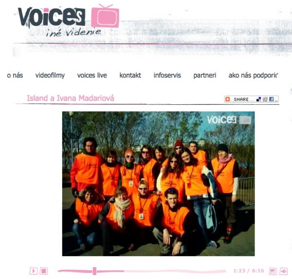 voices.sk - Island and Ivana Madariová