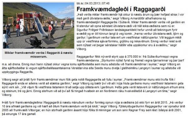 BB.is: Framkvæmdagleði í Raggagarði