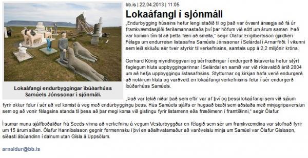BB.is: Lokaáfangi í sjónmáli