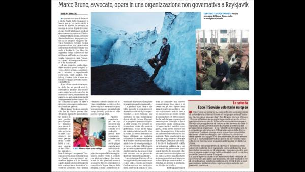 Our volunteer, Marco Bruno, gave an interview to La Gazetta del Mezzogiorno about his experience with SEEDS