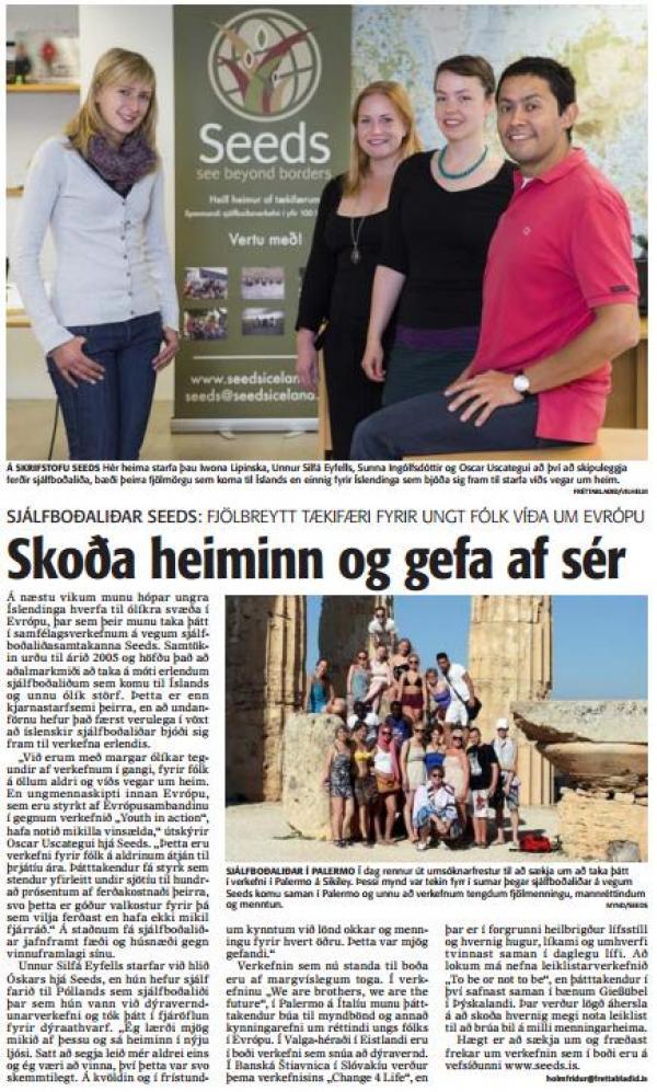 Sjálfboðaliðar SEEDS: Skoða heiminn og gefa af sér