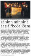 Fréttablaðið - Fáninn minnir á ár sjálfboðaliðans